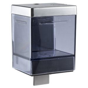 501 dispenser sapone a riempimento 1 l cromato a leva trasparente marplast