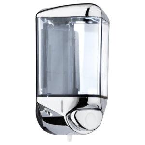 513cro dispenser sapone riempimento 550 ml a pulsante cromato marplast