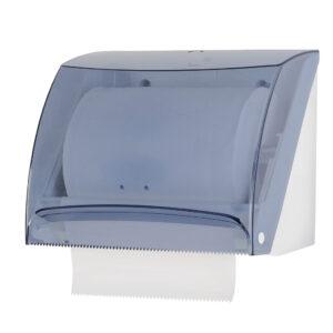518 dispenser carta asciugamani rotolo o interfogliati c v haccp trasparente marplast
