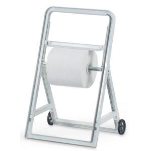 566 cavalletto porta bobine industriali con ruote bianco marplast