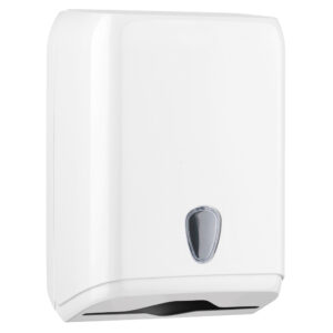 592 dispenser carta asciugamani interfogliata v c z bianco marplast