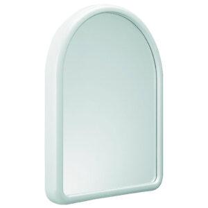 600 specchio ovale con cornice plastica bianco marplast