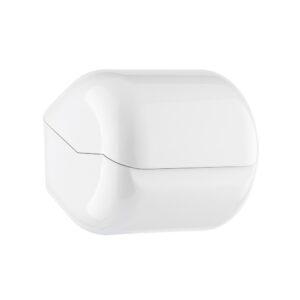 618 porta carta igienica rotolo foglietti con coperchio bianco marplast