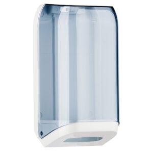 621 dispenser carta igienica interfogliata v z trasparente bianco marplast