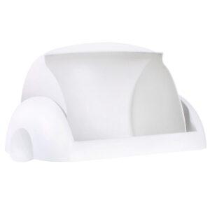 748 coperchio basculante madame porta pannolini bianco marplast aperto