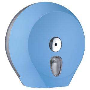 756az dispenser carta igienica mini jumbo rotolo azzurro colored marplast