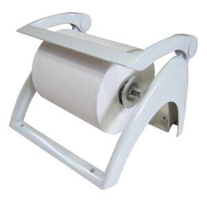 768 dispenser carta asciugamani bobina a parete o appoggio bianco marplast