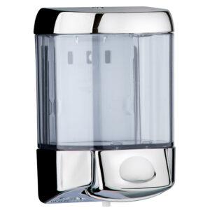 775cro dispenser sapone riempimento 05 l pulsante cromato marplast
