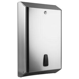 800lucido dispenser carta asciugamani intercalata c z acciaio inox lucido marplast