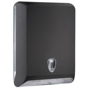 830ne dispenser carta asciugamani v c z nero colored marplast