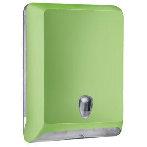 830ve dispenser carta asciugamani v c z verde colored marplast