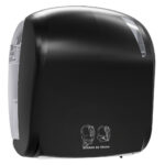 885car dispenser carta asciugamani elettronico nero carbon skin marplast