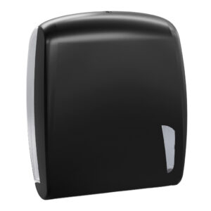 901car dispenser carta asciugamani intercalata nero carbon skin marplast