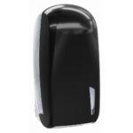 909car dispenser carta igienica interfogliata nero carbon skin marplast