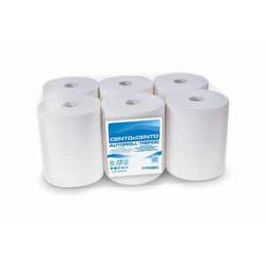 C203T50.11G asciugamani carta rotolo senza pretaglio confezione 6 rotoli eurocarta
